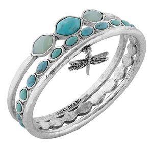 Lucky Brand Turquoise Dragonfly Bangle Bracelets